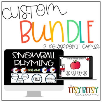Interactive PowerPoint Game - Custom Bundle of 3