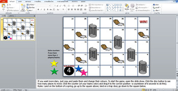 Interactive PowerPoint Game Springs and Trap Doors #Alternative Snakes & Ladders