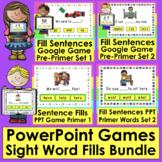 Interactive PowerPoint Games BUNDLE of Sight Word Sentences K/1