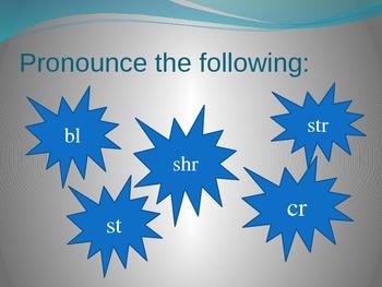 Interactive PowerPoint Initial Consonants Blends