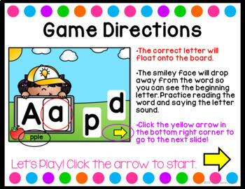 Letter Matching {Interactive Game}