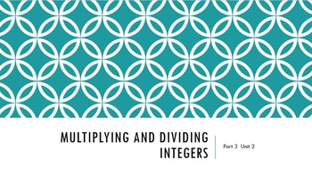 Interactive PowerPoint Multiplying and Dividing Positive a