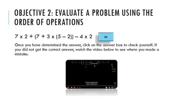 Interactive PowerPoint Order of Operations PEMDAS