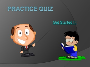 Interactive PowerPoint Quiz - with Score Slide