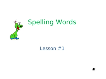 Spelling Words PowePoint Presentation Use With Any List