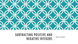 Interactive PowerPoint Subtracting Positive and Negative Integers