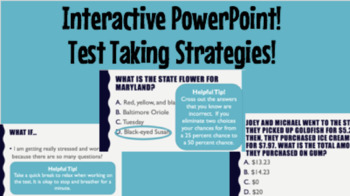 Interactive Powerpoint About Helpful Tips for Test Taking