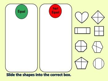Interactive Powerpoint Fraction Activities for K-1