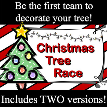 Interactive Powerpoint Game:  Christmas Tree Race -- ANY subject
