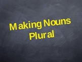 Interactive Powerpoint - Making Nouns Plural by Adding -s or -es