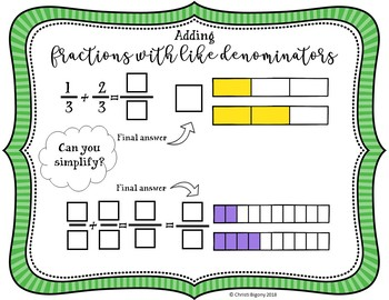 Interactive Practice - Adding and Subtracting Fractions with Like Denominators