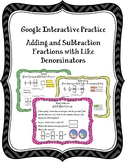 Interactive Practice - Adding and Subtracting Fractions wi