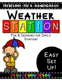 Interactive PreSchool Homeschool Weather Station Activity
