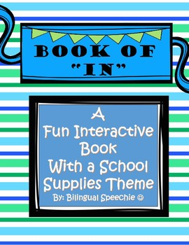 Interactive Preposition Book- IN!!!