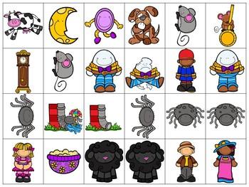 Interactive Preposition Cards Nursery Rhymes