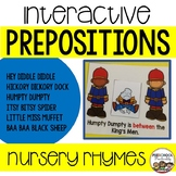 Interactive Preposition Cards Nursery Rhymes