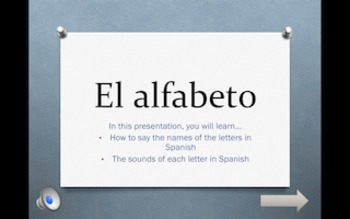 Interactive Presentation: El alfabeto
