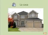 Interactive Presentation: La casa (sala, dormitorio, sala, cocina, baño, casa)