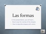 Interactive Presentation: Shapes w/ colors in Spanish -- Las formas con colores