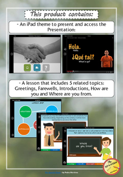 Interactive Presentation: Spanish Basic conversation (Greetings, introducing...)