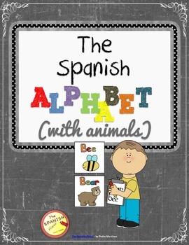 FREEBIE! Interactive Presentation: The Spanish alphabet with animals. iPad theme