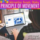Interactive Principle of Movement -Google Slides Art Dista