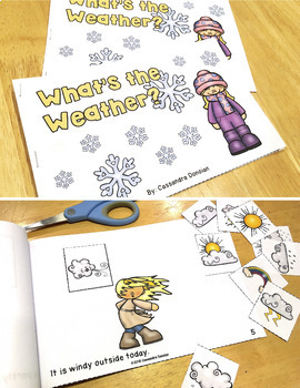 FREE Interactive Printable Mini Book - Weather Vocabulary Themed Sample