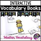 FREE Interactive Printable Mini Book - Weather Vocabulary