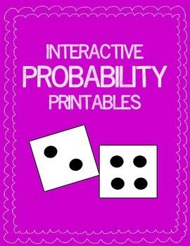 Probability: Interactive Printable Activities