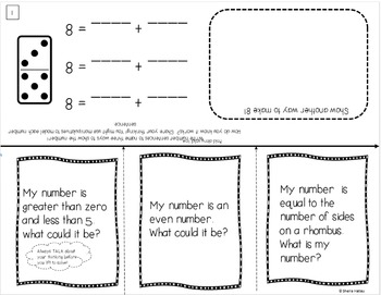 Interactive Math Problem Solving Activities for Kindergarten ~ Editable