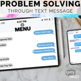 Interactive Problem Solving through Text Message [no print, no prep]