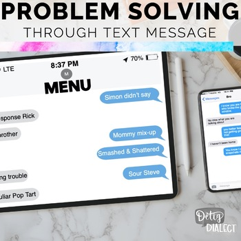 Interactive Problem Solving through Text Message #DistanceLearningTpT