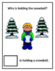 Interactive Pronoun Book- Who is Holding the Snowball?