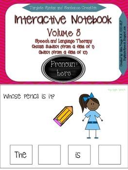 """Interactive Pronoun flip book """"HERS"""" Sentence Creation & Syntax (Speech/Lang)"""