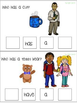 "Interactive Pronoun flip book ""HE/SHE/THEY"" Sort, Sentence Creation & Syntax"