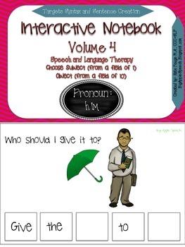 """Interactive Pronoun flip book """"HIM"""" Sentence Creation & Sy"""