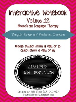 "Interactive Pronoun flip book ""HIM/HER/THEM"" Sort, Sentence Creation & Syntax"