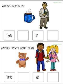 "Interactive Pronoun flip book ""HIS/HERS/THEIRS"" Sort, Sentence Creation & Syntax"