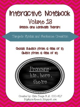 """Interactive Pronoun flip book """"HIS/HERS/THEIRS"""" Sort, Sent"""