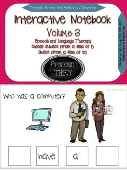 "Interactive Pronoun flip book ""THEY"" Sentence Creation & S"