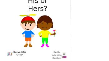Interactive Pronouns Book