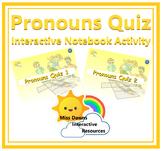 Interactive Pronouns Quiz Activity for IWB FREEBIE