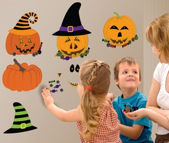 Interactive Pumpkin Wall Play Set