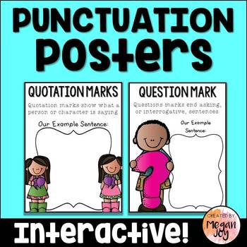 Punctuation Mark Posters and Anchor Charts