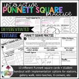 Interactive Punnett Square Practice: Editable, Differentiated!