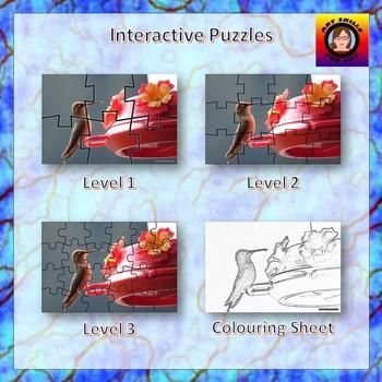 Interactive Puzzles - Hummingbird