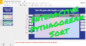 Interactive Pythagorean Sort in Google Slides