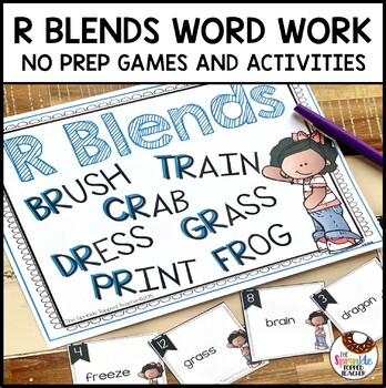 Interactive R Blends Word Work (No Prep)