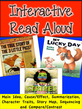Interactive Read Aloud -Bad Case of Stripes, My Lucky Day, True Story 3 Pigs