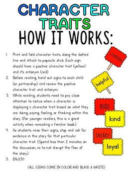 Interactive Read Aloud: Character Traits